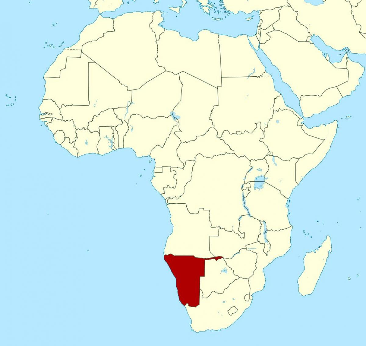 Namibia Kartta Afrikan Kartta Namibia Afrikka Etela Afrikka